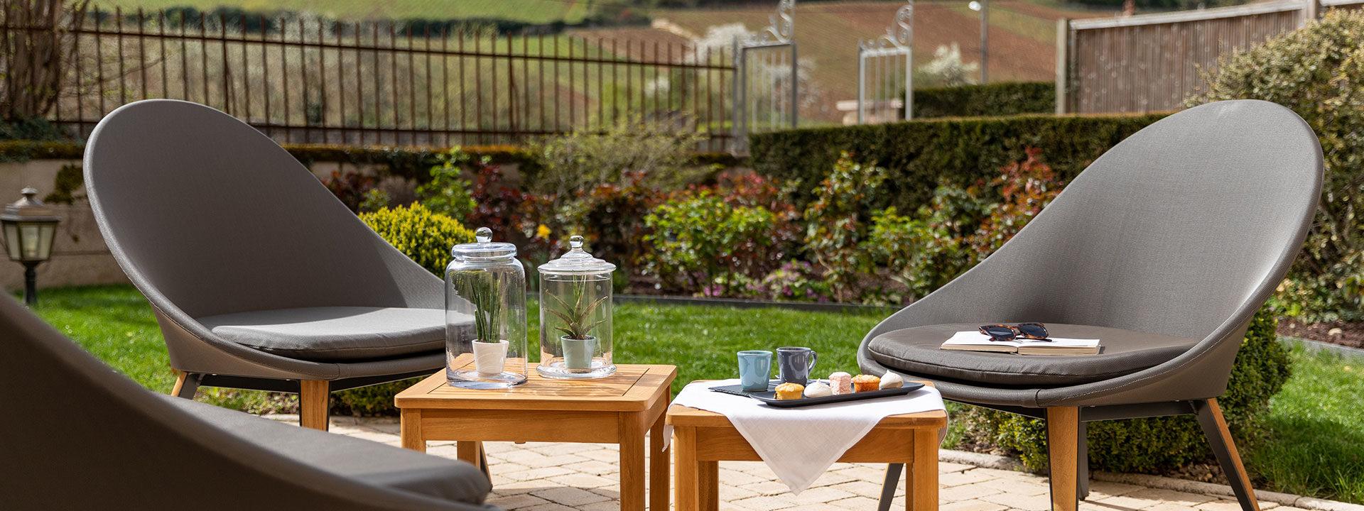 Terrasse et Jardin Hôtel Clos du Colombier