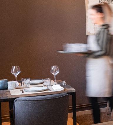 Service au restaurant Clos du Colombier